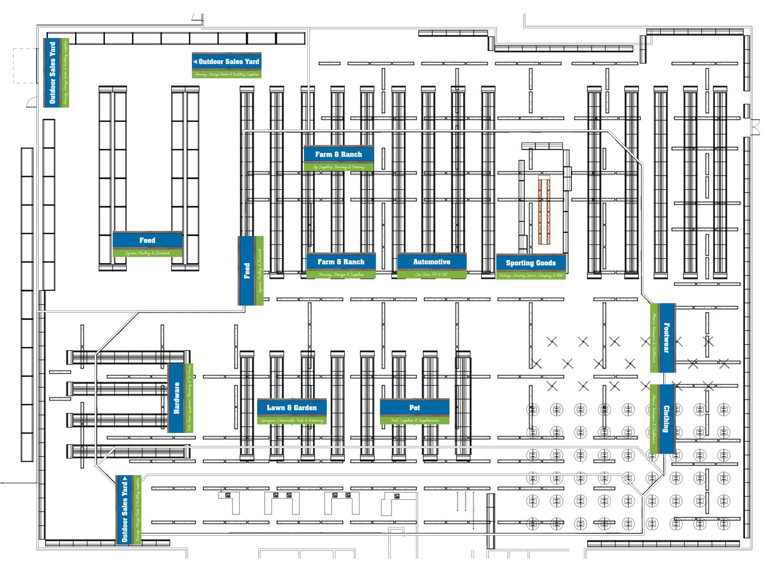 Store floor plan