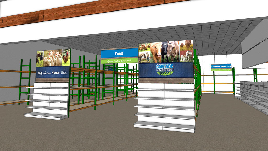 Store signage rendering
